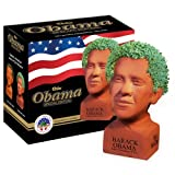 Chia Obama Handmade Decorative Planter, Determined Pose