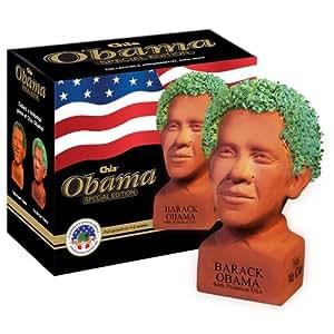 Chia Obama Handmade Decorative Planter, Determined Pose