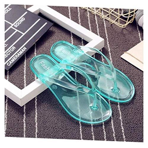- FidgetGear New Womens Flip Flops Beach Sandals Shoes Flip Flops Flat Heel Summer Jelly Green 6