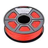 3D printer filament - TOOGOO(R)New 1.75mm Glow in the Dark PLA 3D Printer Filament - 1kg Spool (2.2 lbs) - Dimensional Accuracy +/- 0.02mm (Red)