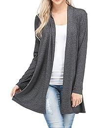 Long Open Front Lightweight Cardigan Sweaters Regular Plus Size