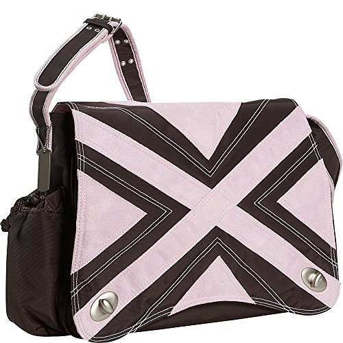 Kalencom Hannah's Messenger Diaper Bag (Chocolate/Pink)