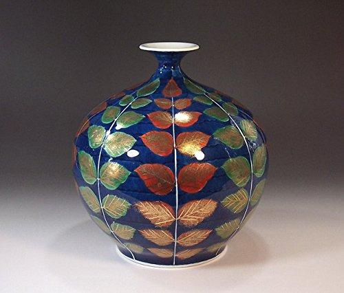 日本の伝統工芸品|有田焼陶器花瓶木の葉|贈答品|ギフト|記念品|贈り物|藤井錦彩 B00M2BSGVA