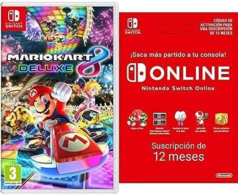 Oferta amazon: Mario Kart 8 Deluxe (Nintendo Switch) + Nintendo Switch Online - 12 Meses (Código de Descarga)