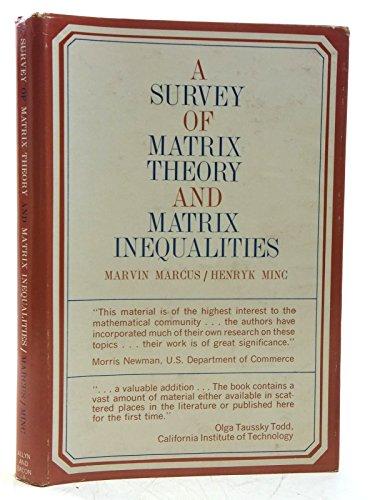 A survey of matrix theory and matrix inequalities.
