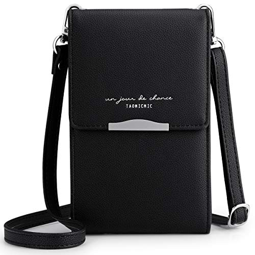 Newshows Women PU Leather Cellphone Wallet Small Clutch Purse Crossbody Bag with Long Strap