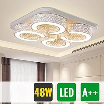Hg 48w Led Deckenlampe Wohnzimmer Badlampe Eckig Weiss Energiespar