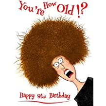 Happy 91st Birthday Youre How Old Notebook Journal Diary
