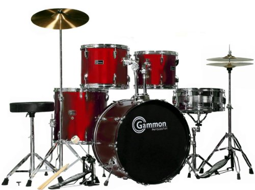 wine-red-20-lug-full-size-drum-set-with-cymbals-stands-sticks-stool-gammon-percussion