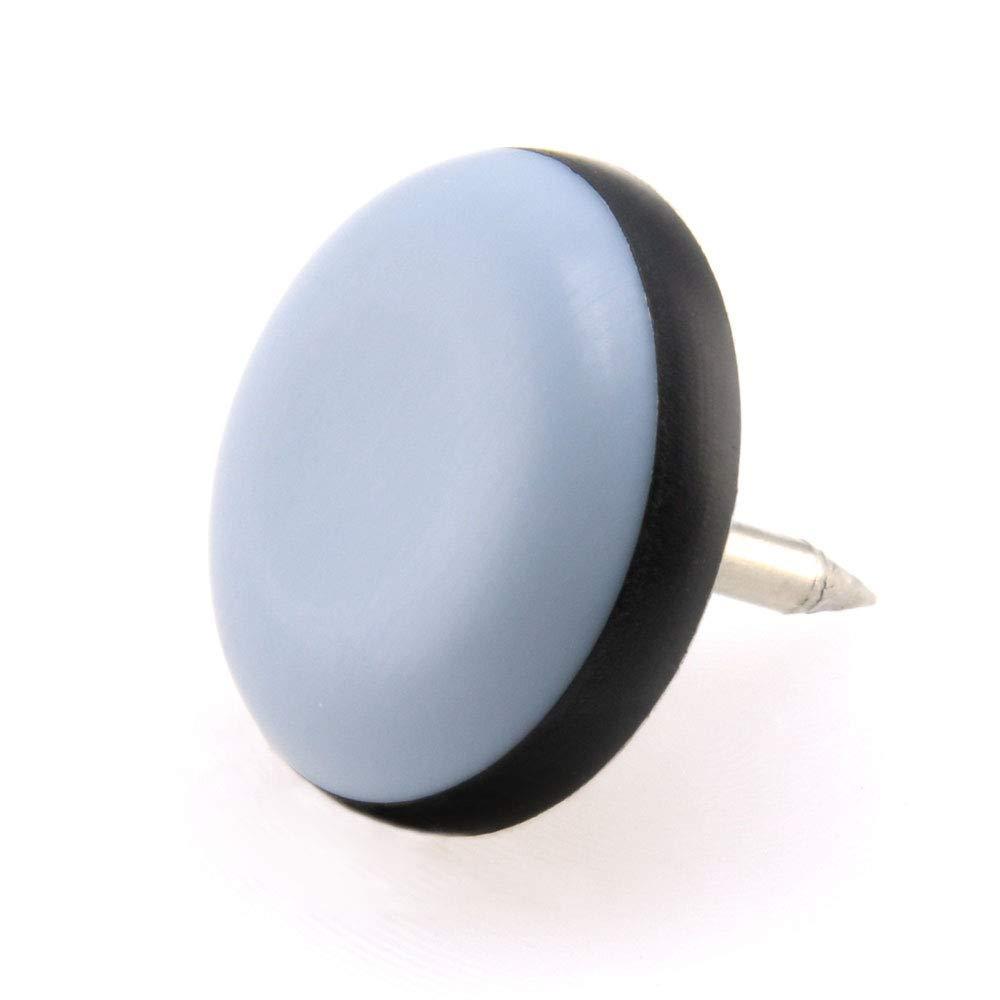 gris patins pour meuble 20 x Patin glisseur en teflon avec ongles 25 mm rond