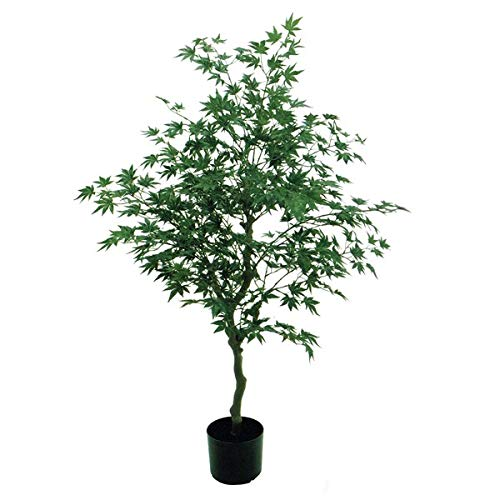 人工観葉植物 モミジポット 高さ120cm fg17700 (代引き不可) インテリアグリーン 造花 B07SW9S9T6