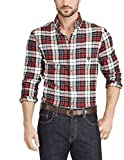 Chaps Men's Button-Down Performance Flannel (White Sand, Small)
