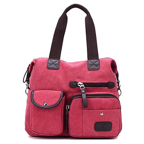 Donna Libero Tote Tempo Tracolla Da Tela In Il Sportive pink Pink Per Viaggio Borse A U14cp1Y