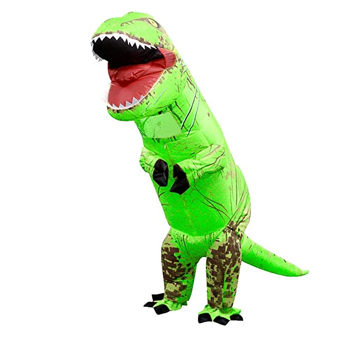 Amazon.com: Diamondo - Disfraz de dinosaurio inflable T Rex ...
