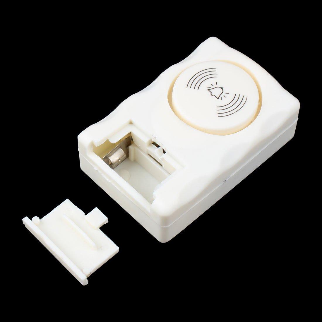 Amazon.com: eDealMax Protección de Seguridad del Ministerio del Interior Ventana de la puerta de entrada Inalámbrico Sirena de alarma Blanca: Electronics
