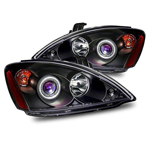 EpandaHouse Compatible with 04-06 Mitsubishi Lancer CCFL LED Angel Eyes Halo Black Projector Headlights