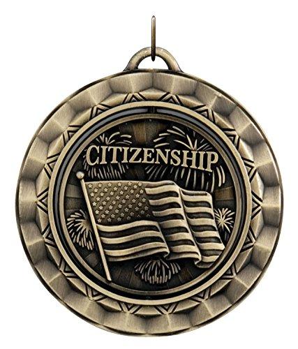 Hammond & Stephens SP394G Citizenship Die Struck Spinner Medal, 2-5/16