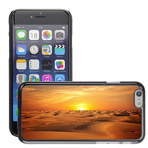 Just Phone Cases Hard plastica indietro Case Custodie Cover pelle protettiva Per // M00421777 Paysage Sable Sunset Sky // Apple iPhone 6 6S 6G PLUS 5.5""