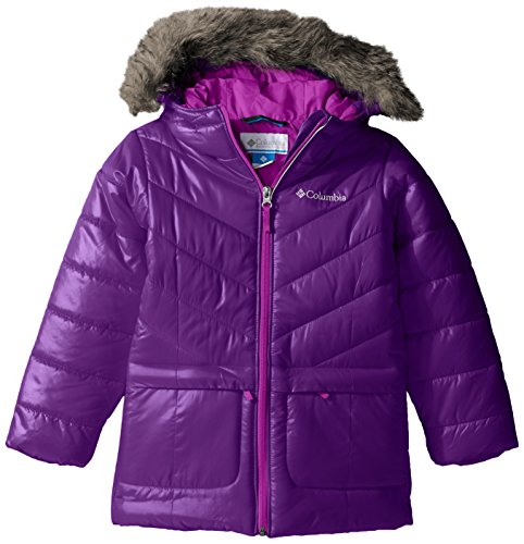 Columbia Big Girls' Katelyn Crest Mid Jacket, Iris Glow, Medium by Columbia
