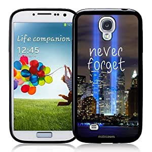 Cool Painting Never Forget Twin Towers - Protective Designer BLACK Case - Fits Samsung Galaxy S4 i9500