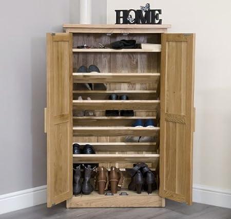 Ordinaire Arden Solid Oak Furniture Hallway Shoe Cupboard Cabinet Rack