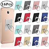 Outee 16 Pcs Cell Phone Ring Holder-Phone Finger Ring Stand 360° Rotation 180° Flip Grip Mount Universal Smartphone for Phone, Tablet
