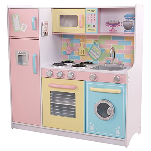 17dff7e4507d Early Education Furniture & Supplies HOMCOM Large Wooden Kids Kitchen  Childrens Pretend Role Play Set Cooking ...