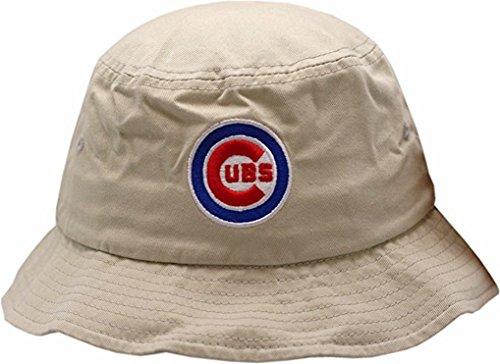Chicago Cubs Bucket Hat Bullseye Logo Khaki S/M 11624 (Bullseye Khaki)