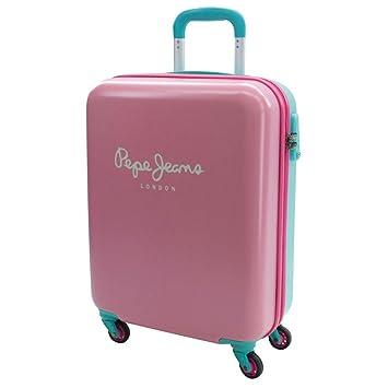 Pepe Jeans Bicolor Equipaje de Mano, 44 litros, Color Rosa: Amazon.es: Equipaje