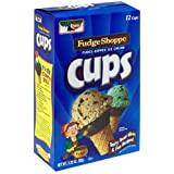 Keebler Ice Cream Cups, Fudge Shoppe Fudge Dipped, 12-Count Boxes (Pack of 6)