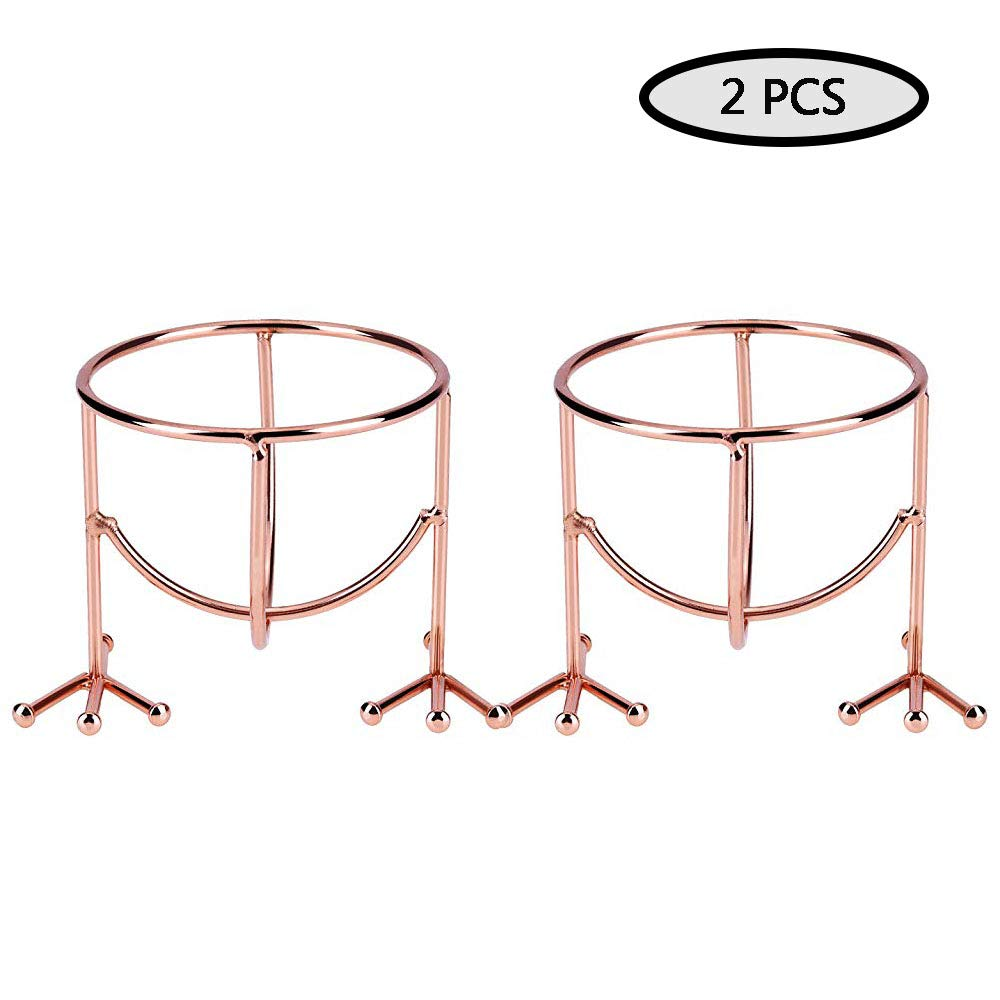 Makeup Sponge Holder Drying Stand,Egg Sponge Stand,Chicken Feet Shape Powder Puff Sponge Support Display Stand,Round Makeup Organizer,Practical for Women Travel and Daily Use(Rose Gold,2 Piece)