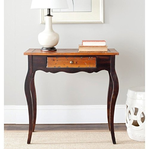 Cooper Side Table with Drawer and Solid Hardwood Finished Walnut