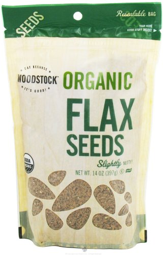 Woodstock Farms - Organic Flax Seeds - 14 oz (pack of 2) by Woodstock
