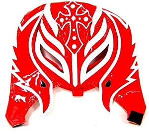 REY MYSTERIO (RED & WHITE HALF MASK) - WWE KID SIZED REPLICA WRESTLING MASK