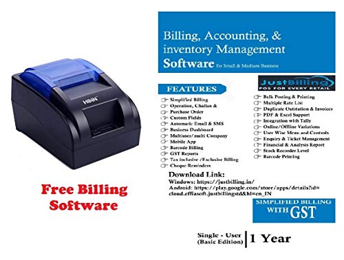HOIN™ Kiosk Receipt/POS Bill Printing Support 58mm BIS Certfied USB Thrermal Printer