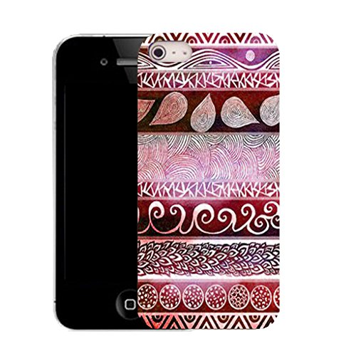 Mobile Case Mate IPhone 4 clip on Silicone Coque couverture case cover Pare-chocs + STYLET - fundamental pattern (SILICON)
