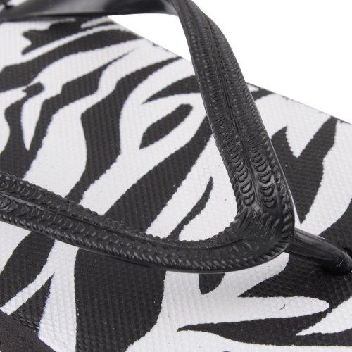 Footwear Sensation - Chanclas para mujer negro negro negro - Zebra Black