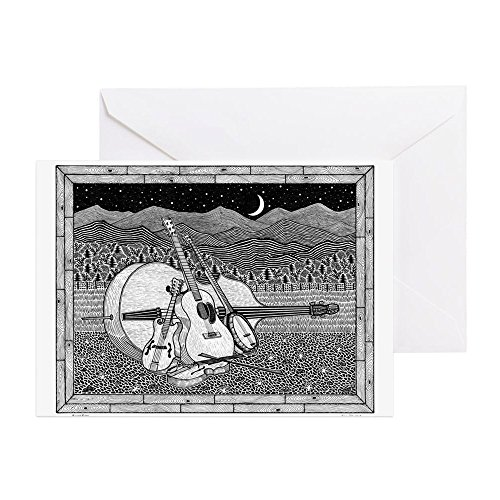 CafePress - Bluegrass - Greeting Card (20-pack), Note Card with Blank Inside, Birthday Card Matte