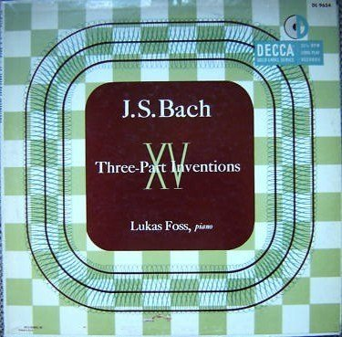 JS Bach XV Three Part Inventions by Decca Records