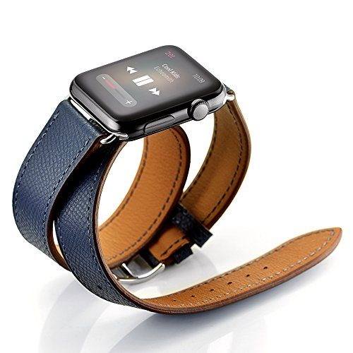 Back To Search Resultswatches Sporting Long Soft Leather Band For Apple Watch Iwatch Series 4 3 2 1 40mm 44mm 38mm 42mm Double Tour Bracelet Strap For Smart Watch Up-To-Date Styling Watchbands