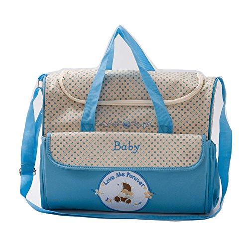 BigForest Multifunction Baby Diaper Bag Large Capacity Travel Mummy Bag Tote Handbag Sky Blue