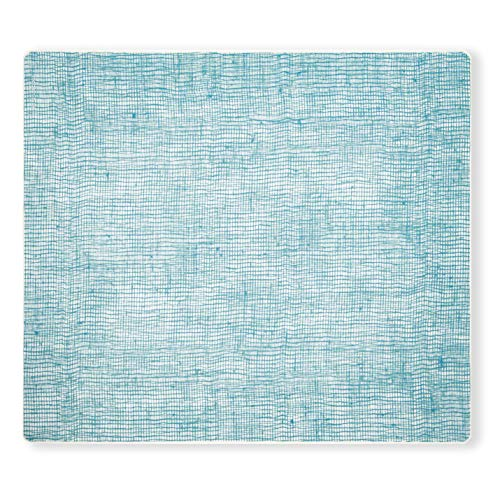 modern-twist Linen Print Placemat 100% plastic free silicone, waterproof, adjustable, dishwasher safe, Rectangle, ()