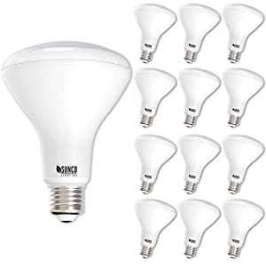 Sunco Lighting 12 Pack BR30 LED Bulb 11W=65W, 2700K Soft White, 850 LM, E26 Base, Dimmable, Indoor/Outdoor Flood Light - UL & Energy Star