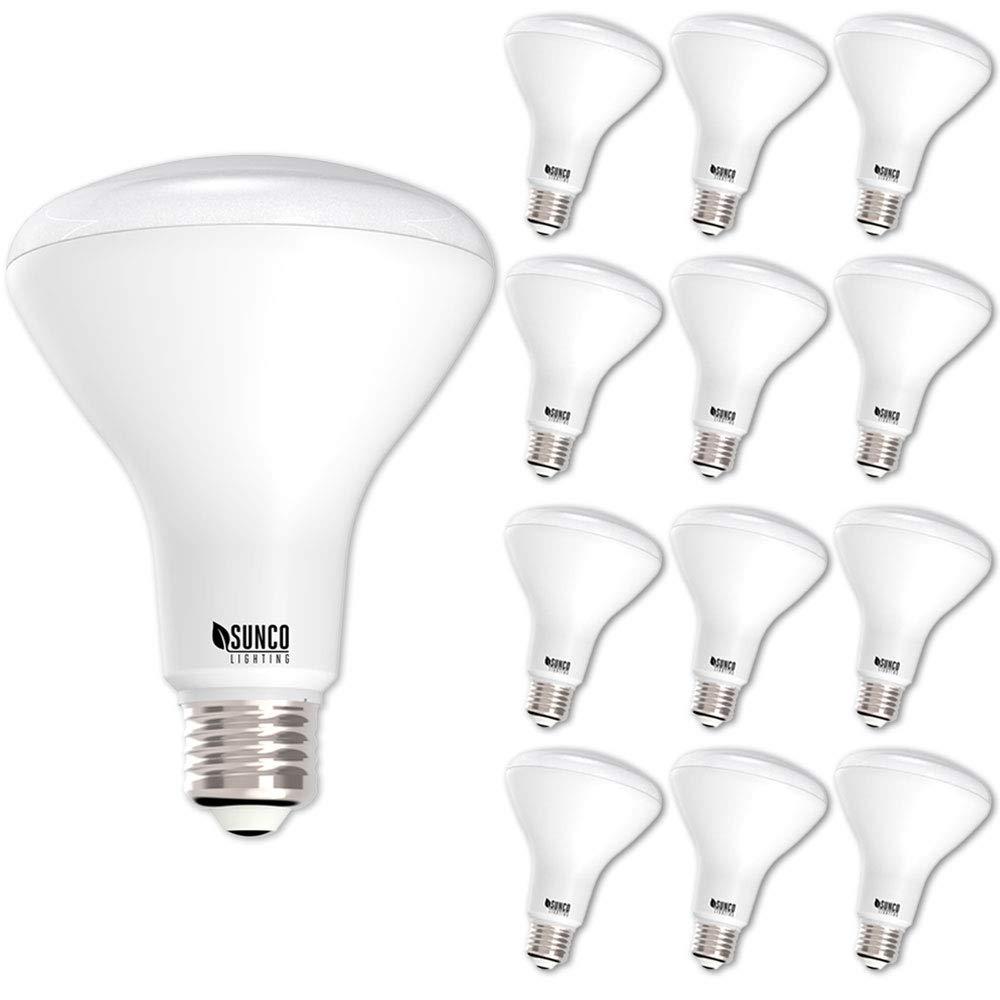 Sunco Lighting 12 Pack BR30 LED Bulb 11W=65W, 2700K Soft White, 850 LM, E26 Base, Dimmable, Indoor/Outdoor Flood Light - UL & Energy Star