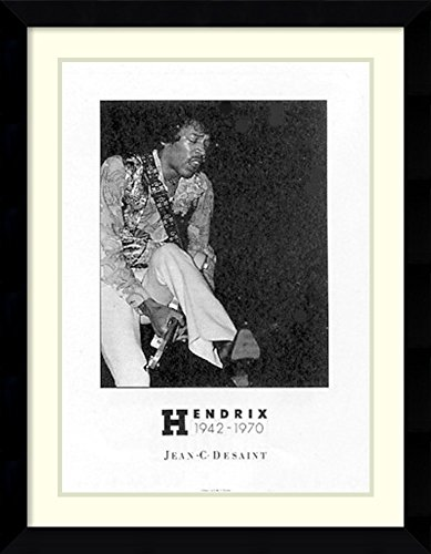 (Framed Wall Art Print | Home Wall Decor Art Prints | Jimi Hendrix by Jean C. Desaint | Modern Decor)