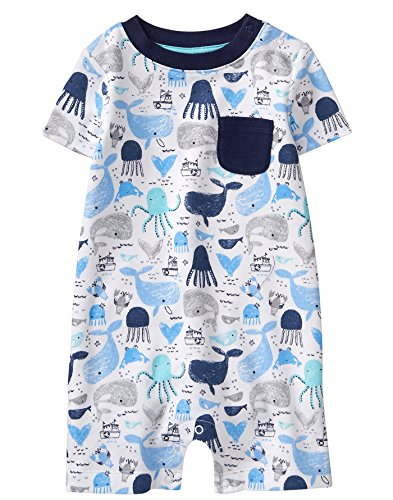 Gymboree Baby Boys Sleeve Shorts One-Piece, Whales Print, 6-12 Mo from Gymboree