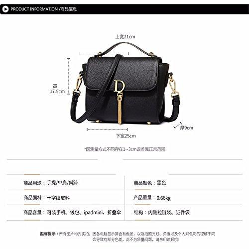 di croce a righe borsa unica spalla GAOQIANGFENG borsa rosa piazza Rosa borsa piccole coreana qXwxgd