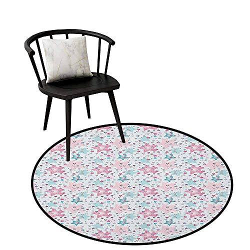 Non-Slip Mats Circular Carpet Mats Abstract Pink Seafoam Circular Carpet Bedroom A Living Room Desk Seat Cushion Carpet 20