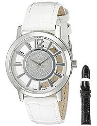 Stuhrling Original Women's 388L.SET.01 Classic Winchester Edinburgh Swiss Quartz White Leather Additional Strap Watch Set