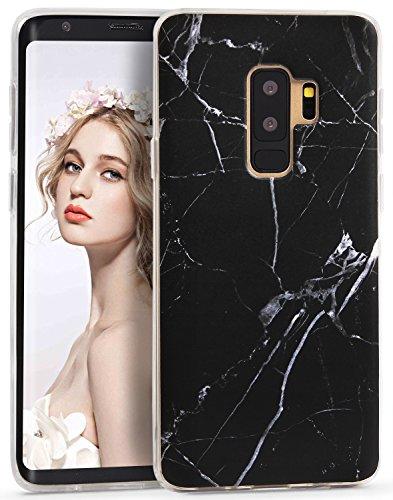 Imikoko Galaxy S9 plus ケース かわいい シリコン 衝撃 ソフト tpu 大理石 マーブル マット アイフォンx ケース